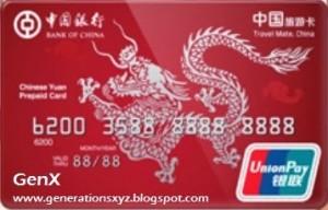 Bank of China UnionPay Prepaid Card